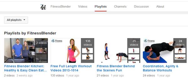 Seznamy videí od FitnessBlender